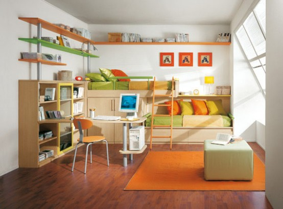 Kids Bedroom Ideas with Bunk Bed 554 x 410