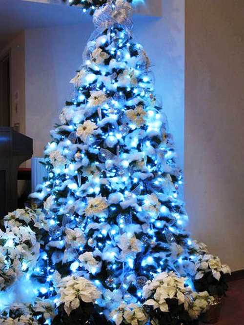 Christmas Trees Decorated Amazing Of Blue and White Christmas Tree Photo